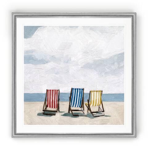 Beach Trip II -Black Framed Print