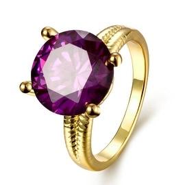 Tiffany's Classic Gold Purple Citrine Ring