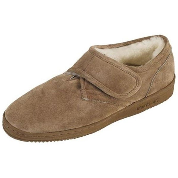 5c711130134 Shop Old Friend Slippers Mens Sheepskin Scuff Extra Wide Chestnut - Free  Shipping Today - Overstock.com - 16120162