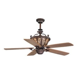"Vaxcel Lighting FN56312 Dynasty 56"" 5 Blade Indoor Ceiling Fan - Light Kit and Fan Blades Included - forum patina"