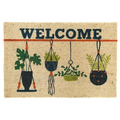 "Planter 24x36 Coir Doormat by Kosas Home - 24""x36"""