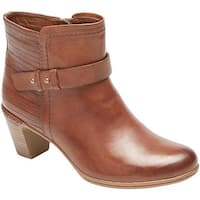 Rockport Women's Cobb Hill Rashel Buckle Ankle Boot Almond Leather