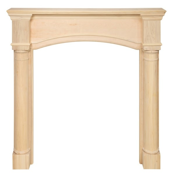 "57"" Ivory The Princeton Fireplace Mantel Unfinished - N/A"