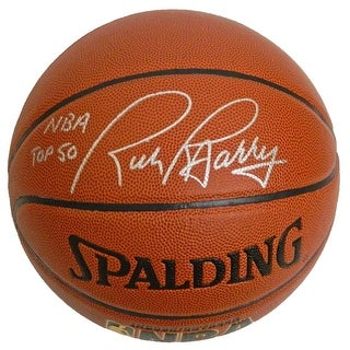 Rick Barry Signed Spalding NBA Indoor/Outdoor Basketball w/NBA Top 50