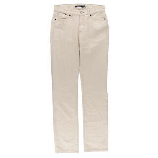 Lauren Ralph Lauren Womens Natural Seeded Straight Leg Jeans Denim Slimming Fit