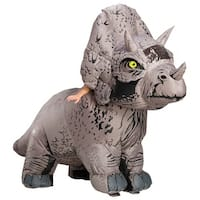 Adult Jurassic World Inflatable Triceratops Standard Costume - standard - one size