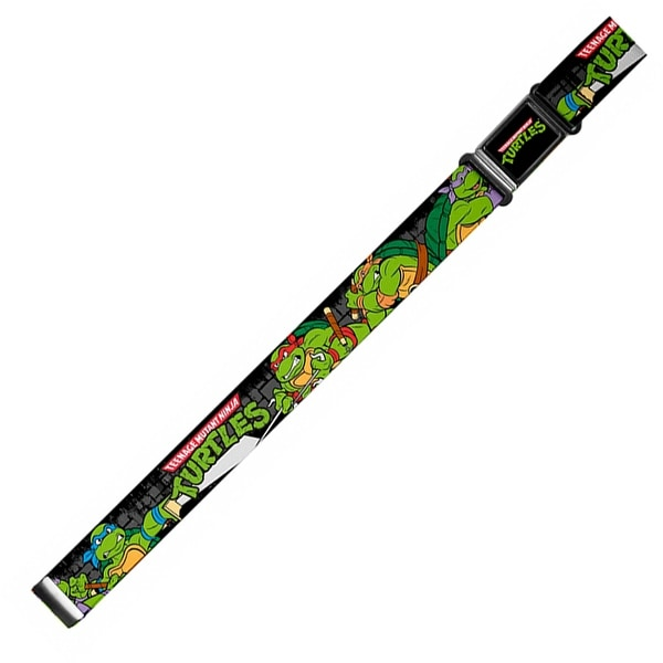 Classic Tmnt Logo Full Color Classic Tmnt Group Pose4 In Sewer Tmnt Magnetic Web Belt - S