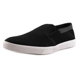 Calvin Klein Ives Knit Weave Men Round Toe Canvas Black Loafer