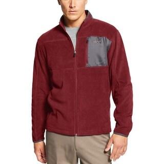 Greg Norman Performance Zip Fleece Golf Sweatshirt Carmine Red X-Large