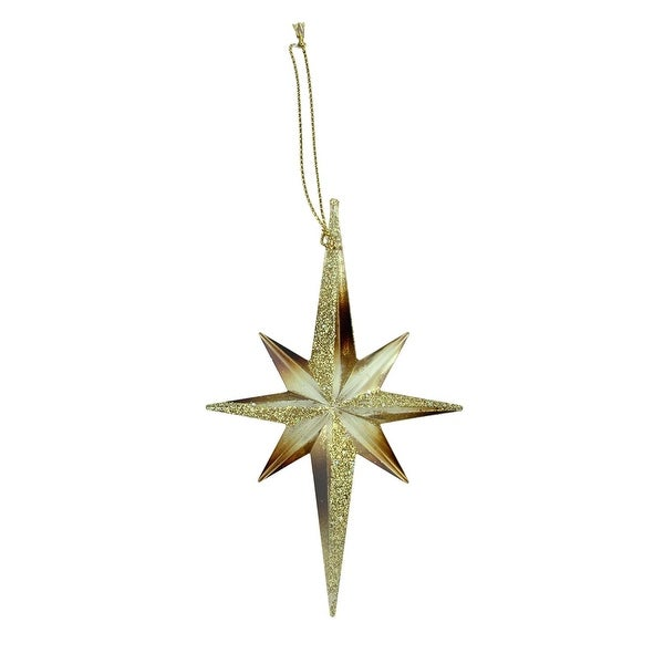 "5"" Celebration Gold and Copper Moravian Star Christmas Ornament"