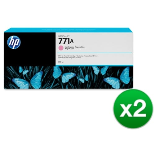 HP 771A 775-ml Light Magenta DesignJet Ink Cartridge (B6Y19A) (2-Pack)