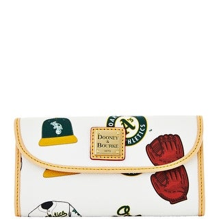 Dooney & Bourke MLB Athletics Continental Clutch (Introduced by Dooney & Bourke at $128 in Feb 2014)
