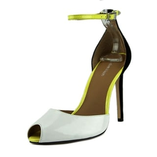 Calvin Klein Sirena   Peep-Toe Synthetic  Heels