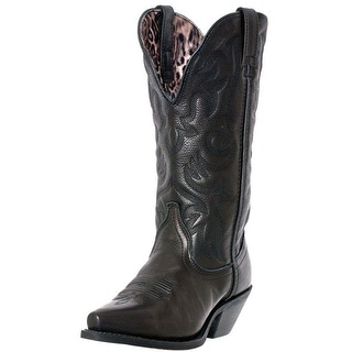 Laredo Western Boots Womens Access Deep Dip Cowboy Leather Black 51070
