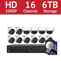 LaView 16 Channel 1080p IP NVR with (8) 1080p Bullet Cameras and (4) 1080p Dome Cameras and a 6TB HDD
