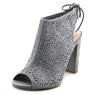 Wild Diva Morris Women  Peep-Toe Suede Gray Slingback Heel