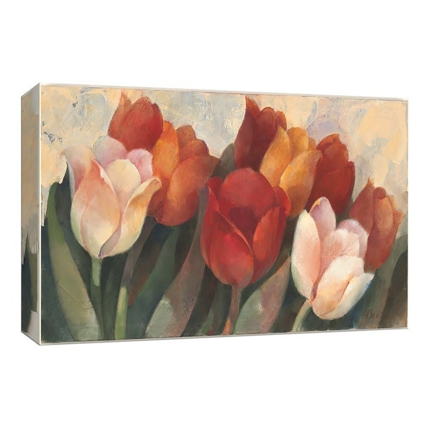 "PTM Images 9-153909 PTM Canvas Collection 8"" x 10"" - ""Time for Tulips"" Giclee Flowers Art Print on Canvas"