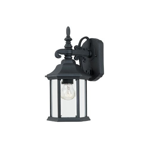 "Designers Fountain 2961-BK 1 Light 6.25"" Cast Aluminum Wall Lantern from the Devonshire Collection"