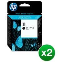 HP 11 Black Printhead (C4810A) (2-Pack)