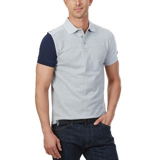 Nautica Colorblock Cotton Polo Shirt Grey Heather XX-Large