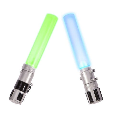 "Set of 2 Blue and Gray Light-Up Star Wars Lightsaber Dive Stick Swimming Pool Toys - 6"" - N/A"