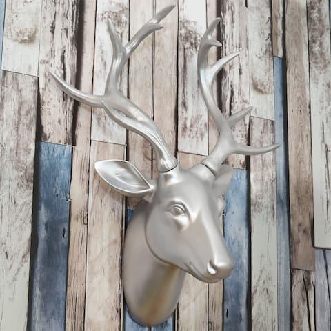 Walplus Premium Silver Faux Deer Head Wall Art Modern Home Decorations
