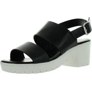 Bamboo Womens Odessa-05 White Sole Dual Strap Slingback Closure Fashion-Sandals