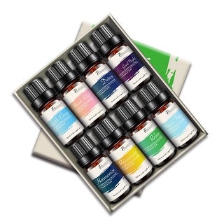 Pursonic AOB8 Blends of 100% Pure Essential Aromatherapy Oils Gift Set-8 Pack, 0.34 Ounces of 8 Scents