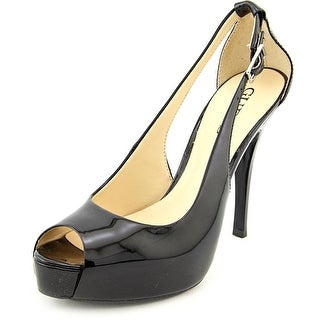 Guess Hondo3 Women Open Toe Synthetic Black Platform Heel