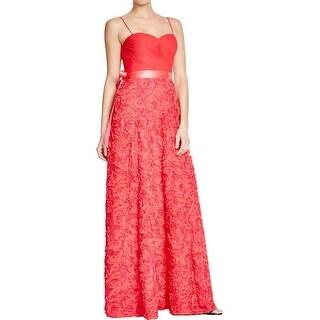 Aidan by Aidan Mattox Womens Evening Dress Rosette High Waist
