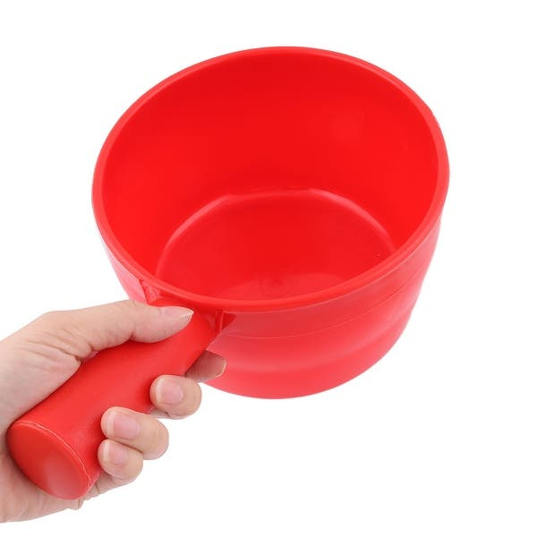 Home Plastic Wine Dispenser Storage Pouring Ladle Dipper Measuring Cup Red 2pcs