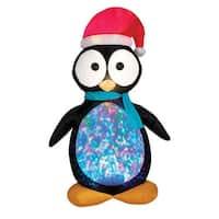 "Gemmy 87752 Christmas Airblown Kaleidescope Penguin Inflatable, Fabric, 24-7/16"" x 24-7/16"" x 12"""
