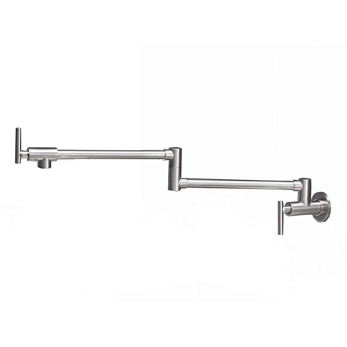 Vibrantbath Wall Mount Single Handle Pot Filler Kitchen Faucet Swing Swivel  Spout