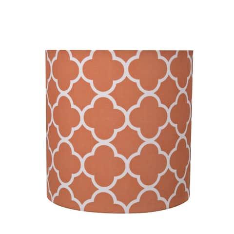 "Aspen Creative Drum (Cylinder) Shaped Spider Construction Lamp Shade in Orange (8"" x 8"" x 8"")"