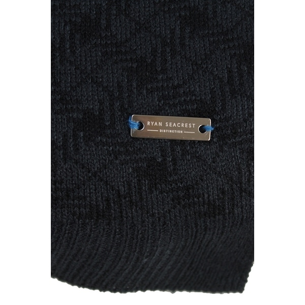 Ryan Seacrest Mens Distinction Herringbone Stitch Scarf Gray O//S