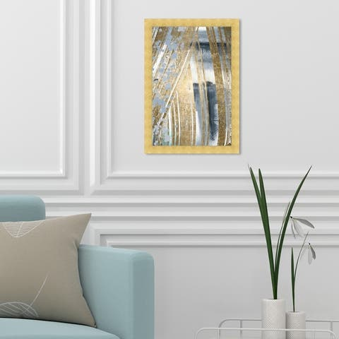 Oliver Gal 'Chosen One' Abstract Wall Art Framed Print Paint - Gray, Gold