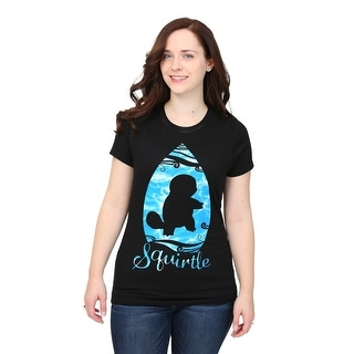 Womens Pokemon Squirtle Water Drop T-Shirt