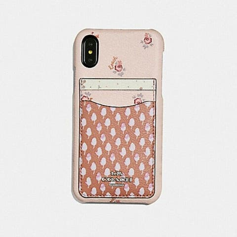 Coach iPhone XR Case with Ditsy Acorn Patchwork Print, Pink