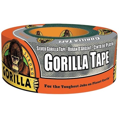 "Gorilla 6071202 Heavy Duty Duct Tape, Silver, 1.88"" W x 12 Yard L"
