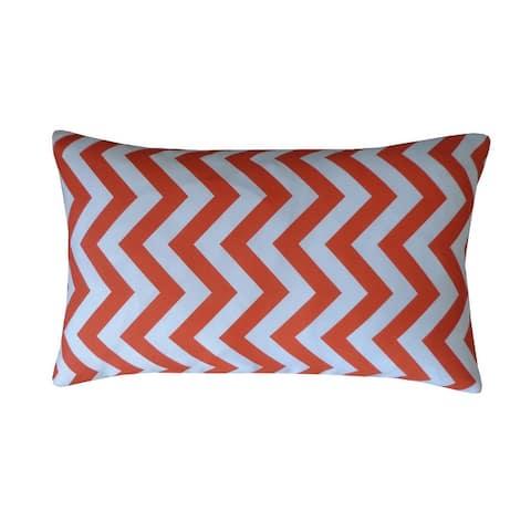 Jiti Chevron Transitional Sunbrella Outdoor Pillows - 12 x 20