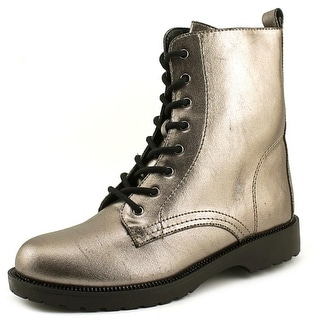 G By Guess Silvia Round Toe Leather Ankle Boot