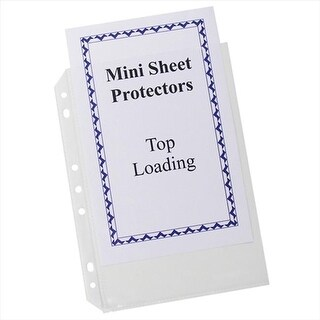 C-Line Products Mini Size Top Loading Poly Sheet Protectors 5 .5 x