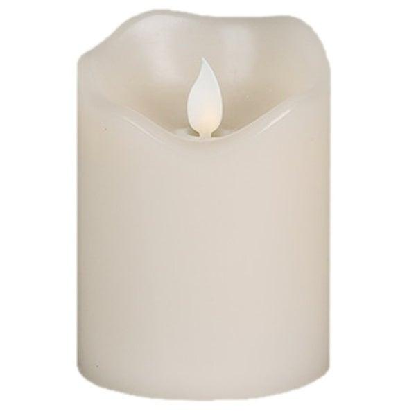 "Gerson 42536 Flameless Pillar Candle Ivory, 3"" x 4"""