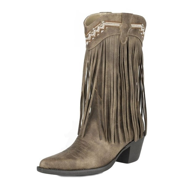 Roper Western Boots Womens Pointy Toe Brown
