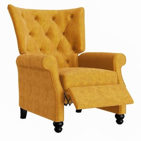 Copper Grove Plush Push-Back Recliner Chair