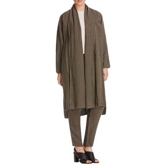 Eileen Fisher Womens Jacket Tencel/Linen Blend Oversized - L/XL