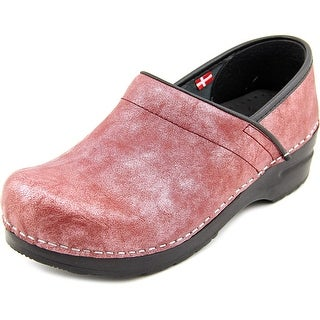 Sanita Margo Round Toe Leather Clogs