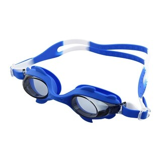 Silicone Belt Clear Vision Anti Fog Swimming Goggles Glasses Dark Blue for Kids