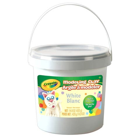 Modeling Clay, 1 lb. Buckets, White, 4 Buckets - White - 1 lb.