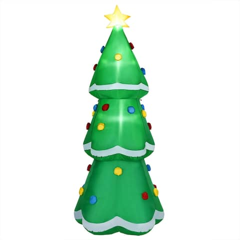 10' Inflatable Christmas Tree LED Lighted Giant Waterproof Tree